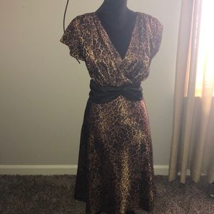 Used nice leopard dress